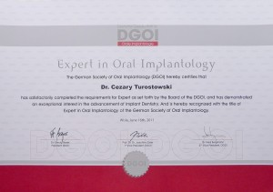 Implanty certyfikat